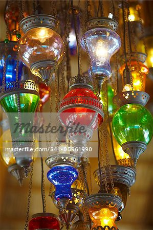 Lamps for sale, Istanbul, Turkey, Europe Stock Photo - Rights-Managed, Image code: 841-05961990