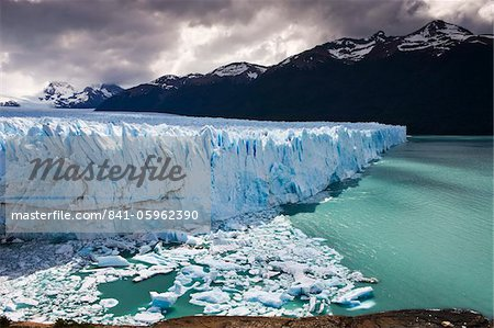 Spectacular Perito Moreno glacier, situated within Los Glaciares National Park, UNESCO World Heritage Site, Patagonia, Argentina. Stock Photo - Rights-Managed, Image code: 841-05962390
