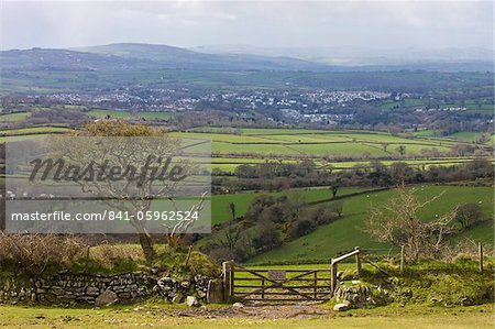 Spectacular views from Dartmoor over countryside towards Tavistock, Dartmoor National Park, Devon, England, United Kingdom, Europe Stock Photo - Rights-Managed, Image code: 841-05962524