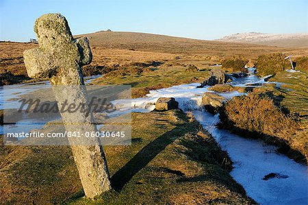 Ancient cross in winter, Whitchurch Common, Dartmoor National Park, Devon, England, United Kingdom, Europe Stock Photo - Rights-Managed, Image code: 841-06030645