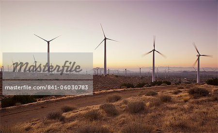 Wind turbines just outside Mojave, California, United States of America, North America Stock Photo - Rights-Managed, Image code: 841-06030783