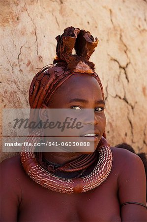 Himba woman, Skeleton Coast National Park, Namibia, Africa Stock Photo - Rights-Managed, Image code: 841-06030888