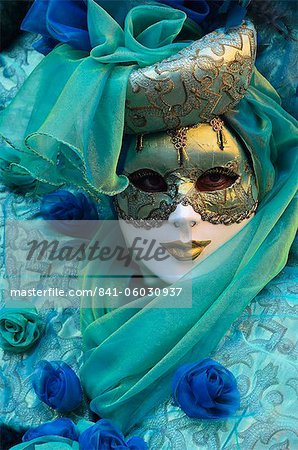 Masked figure in costume at the 2012 Carnival, Venice, Veneto, Italy, Europe Stock Photo - Rights-Managed, Image code: 841-06030937