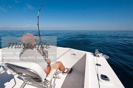 Deep-sea sports-fishing for sailfish, Puerto Vallarta, Jalisco, Mexico, North America Stock Photo - Rights-Managed, Image code: 841-06031505