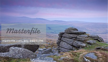 View towards High Willhays from Belstone Tor, Dartmoor, Devon, England, United Kingdom, Europe Stock Photo - Rights-Managed, Image code: 841-06031596