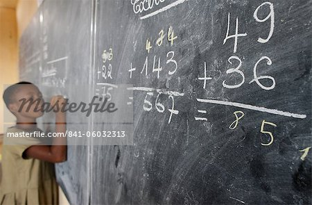 Primary school in Africa, Lome, Togo, West Africa, Africa Stock Photo - Rights-Managed, Image code: 841-06032313