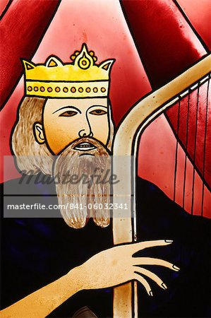 Stained glass of King David, Lome, Togo, West Africa, Africa Stock Photo - Rights-Managed, Image code: 841-06032341