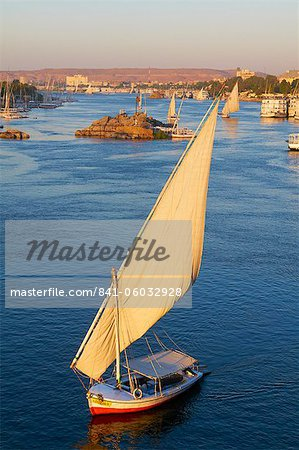 Feluccas on the River Nile, Aswan, Egypt, North Africa, Africa Stock Photo - Rights-Managed, Image code: 841-06032928