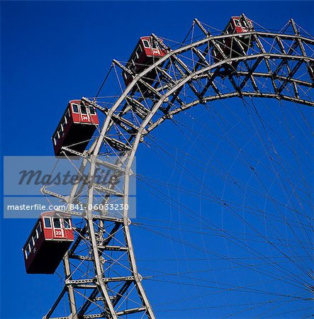 Prater Ferris Wheel featured in film The Third Man, Prater, Vienna, Austria, Europe Stock Photo - Rights-Managed, Image code: 841-06033230