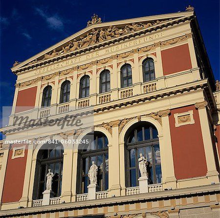 Exterior of Musikverein concert hall, Vienna, Austria, Europe Stock Photo - Rights-Managed, Image code: 841-06033245