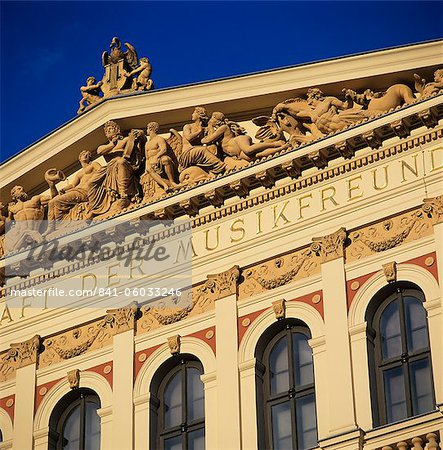 Exterior of Musikverein concert hall, Vienna, Austria, Europe Stock Photo - Rights-Managed, Image code: 841-06033246
