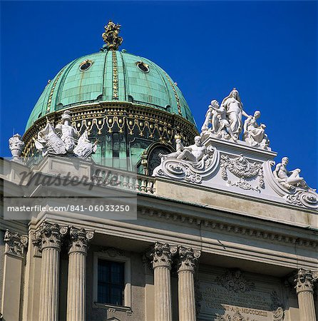 Hofburg dome, UNESCO World Heritage Site, Vienna, Austria, Europe Stock Photo - Rights-Managed, Image code: 841-06033250