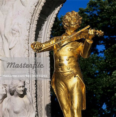 Statue of Johann Strauss, Stadtpark, Vienna, Austria, Europe Stock Photo - Rights-Managed, Image code: 841-06033251