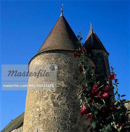 Tower of the Chateau, Chateauneuf, Burgundy, France, Europe Stock Photo - Rights-Managed, Image code: 841-06033438