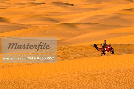Sam Sand Dunes, Rajasthan, India, Asia Stock Photo - Rights-Managed, Image code: 841-06033957
