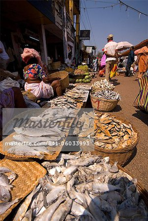 Fish stall, Mapusa Market, Goa, India, Asia Stock Photo - Rights-Managed, Image code: 841-06033993
