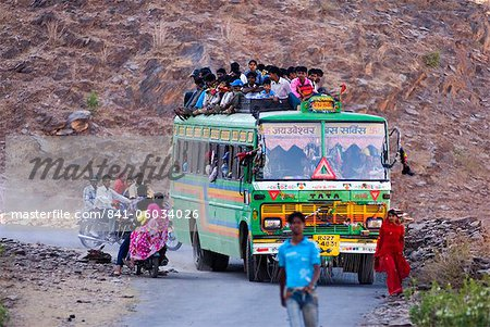 Public bus, Rajasthan, India, Asia Stock Photo - Rights-Managed, Image code: 841-06034026
