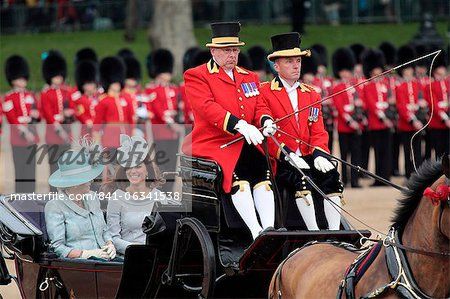 The Duchess of Cornwall and the Duchess of Cambridge,  Trooping the Colour 2012, The Queen's Birthday Parade, Whitehall, London, England, United Kingdom, Europe Stock Photo - Rights-Managed, Image code: 841-06341538