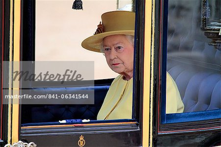 HM The Queen, Trooping the Colour 2012, The Queen's Birthday Parade, Whitehall, Horse Guards, London, England, United Kingdom, Europe Stock Photo - Rights-Managed, Image code: 841-06341544