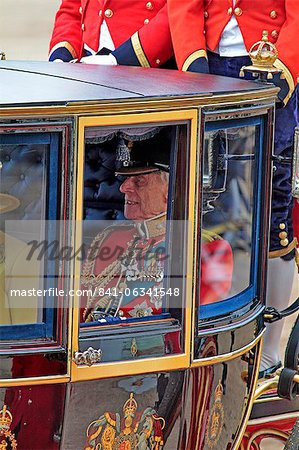 HRH Prince Philip, Trooping the Colour 2012, The Queen's Birthday Parade, Whitehall, Horse Guards, London, England, United Kingdom, Europe Stock Photo - Rights-Managed, Image code: 841-06341548