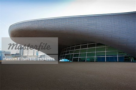 The entrance to the the Aquatics Centre in the Olympic Park, London, England, United Kingdom, Europe Stock Photo - Rights-Managed, Image code: 841-06342076