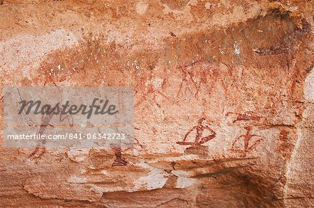 Rock paintings, Twyfelfontein, UNESCO World Heritage Site, Damaraland, Kunene Region, Namibia, Africa Stock Photo - Rights-Managed, Image code: 841-06342723