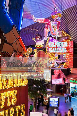 The Freemont Street Experience in Downtown Las Vegas, Las Vegas, Nevada, United States of America, North America Stock Photo - Rights-Managed, Image code: 841-06343184