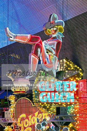 The Freemont Street Experience in Downtown Las Vegas, Las Vegas, Nevada, United States of America, North America Stock Photo - Rights-Managed, Image code: 841-06343185