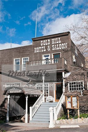 Gold Hill Hotel and Saloon, Nevada's oldest hotel dating from 1859, Virginia City, Nevada, United States of America, North America Stock Photo - Rights-Managed, Image code: 841-06343350