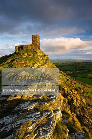 St. Michael de Rupe Church on Brent Tor, Brentor, Dartmoor National Park, Devon, England, United Kingdom, Europe Stock Photo - Rights-Managed, Image code: 841-06343474