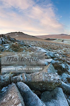 Frost on Belstone Tor in Dartmoor National Park, Devon, England, United Kingdom, Europe Stock Photo - Rights-Managed, Image code: 841-06343569
