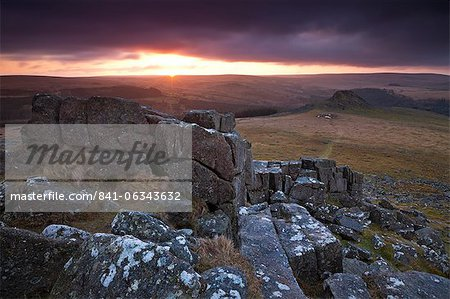Leather Tor from Sharpitor at sunrise, Dartmoor National Park, Devon, England, United Kingdom, Europe Stock Photo - Rights-Managed, Image code: 841-06343632