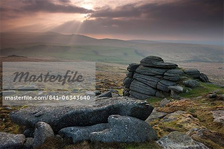 Yes Tor from Higher Tor, Belstone, Dartmoor National Park, Devon, England, United Kingdom, Europe Stock Photo - Rights-Managed, Image code: 841-06343640