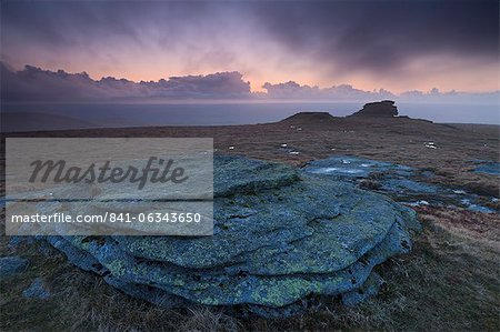 High Willhays at twilight, the highest point in Dartmoor and Southern Britain, Dartmoor National Park, Devon, England, United Kingdom, Europe Stock Photo - Rights-Managed, Image code: 841-06343650