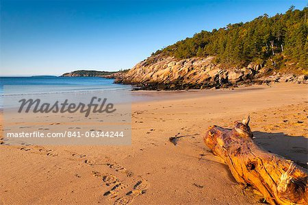 Sandy Beach, Acadia National Park, Mount Desert Island, Maine, New England, United States of America, North America Stock Photo - Rights-Managed, Image code: 841-06344244