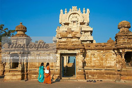 Kailasanatha temple dating from 8th century, Kanchipuram, Tamil Nadu, India, Asia Stock Photo - Rights-Managed, Image code: 841-06344578