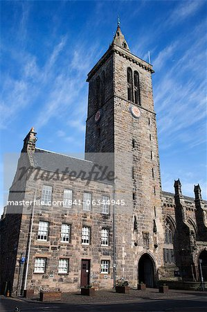 St Salvators College Chapel Tower, St Andrews, Fife, Scotland Stock Photo - Rights-Managed, Image code: 841-06344945