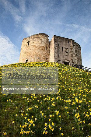 Cliffords Tower, York, Yorkshire, England Stock Photo - Rights-Managed, Image code: 841-06344974