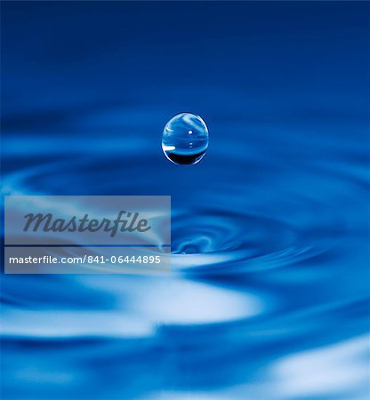 Falling drop of water Stock Photo - Rights-Managed, Image code: 841-06444895