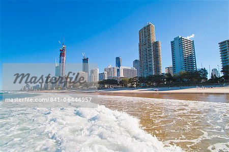Surfers Paradise beach and high rise buildings, the Gold Coast, Queensland, Australia, Pacific Stock Photo - Rights-Managed, Image code: 841-06444957