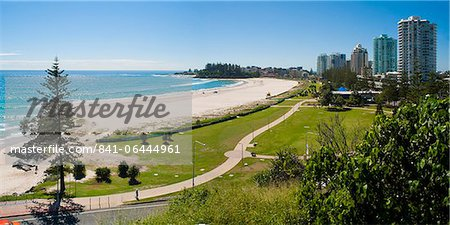 Coolangatta Beach and town panoramic, Gold Coast, Queensland, Australia, Pacifc Stock Photo - Rights-Managed, Image code: 841-06444961