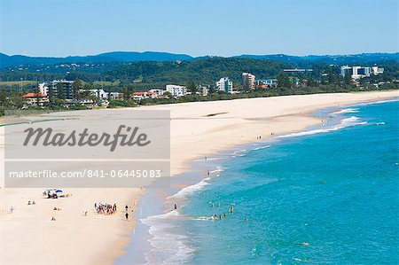 Surf school on Coolangatta Beach, Gold Coast, Queensland, Australia, Pacific Stock Photo - Rights-Managed, Image code: 841-06445083
