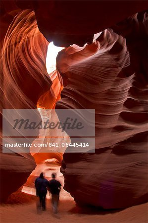 Upper Antelope Canyon (Tse' bighanilini), LeChee Chapter, Navajo Nation, Arizona, United States of America, North America Stock Photo - Rights-Managed, Image code: 841-06445414