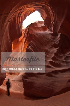 Upper Antelope Canyon (Tse' bighanilini), LeChee Chapter, Navajo Nation, Arizona, United States of America, North America Stock Photo - Rights-Managed, Image code: 841-06445415