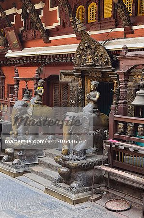 The Golden Temple, Patan, UNESCO World Heritage Site, Bagmati, Central Region (Madhyamanchal), Nepal, Asia Stock Photo - Rights-Managed, Image code: 841-06446544