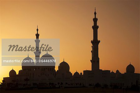 Sheikh Zayed Mosque, Abu Dhabi, United Arab Emirates, Middle East Stock Photo - Rights-Managed, Image code: 841-06446978