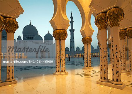 Sheikh Zayed Mosque, Abu Dhabi, United Arab Emirates, Middle East Stock Photo - Rights-Managed, Image code: 841-06446989