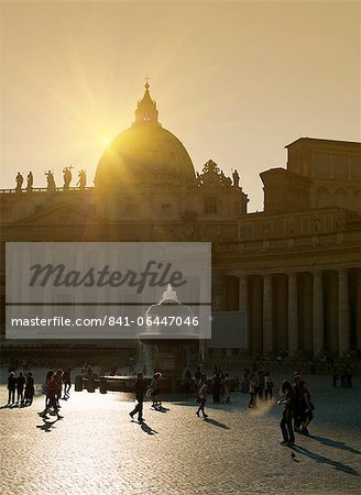 St. Peter's Basilica, Vatican, Rome, Lazio, Italy, Europe Stock Photo - Rights-Managed, Image code: 841-06447046