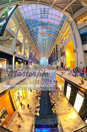 Shopping Mall in the Marina Bay Sands hotel and casino complex, Singapore, Southeast Asia, Asia Stock Photo - Rights-Managed, Image code: 841-06447222