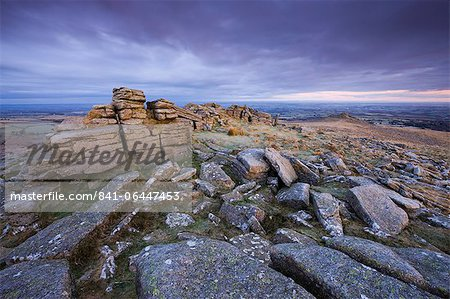 Belstone Tor on a frosty winter morning, Dartmoor National Park, Devon, England, United Kingdom, Europe Stock Photo - Rights-Managed, Image code: 841-06447453